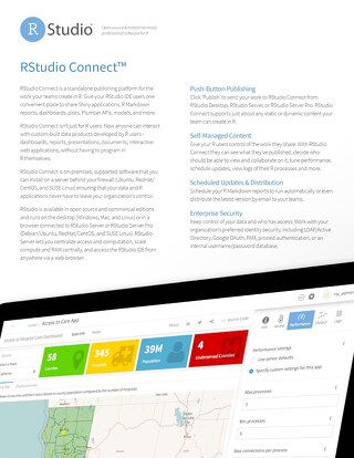 RStudio Connect Overview