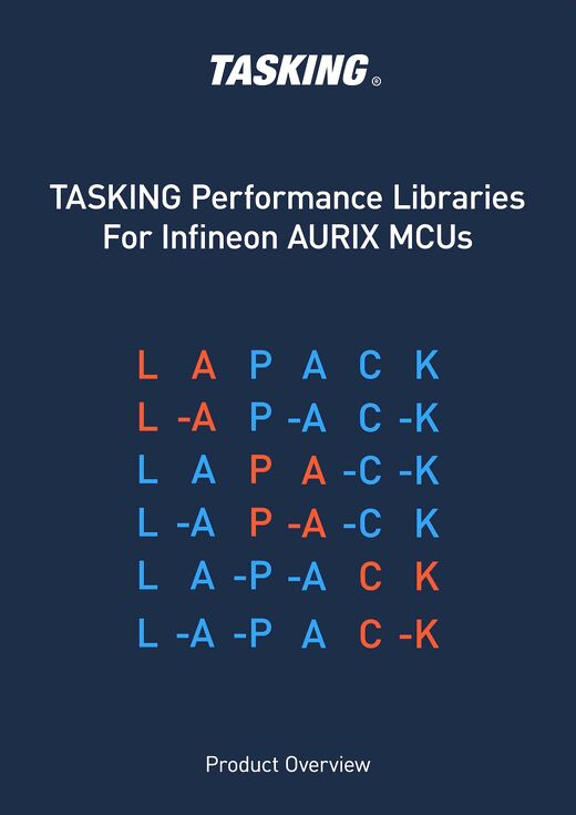 TASKING Lapack Perfomance Libraries For Infineon AURIX MCUs