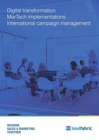 Brochure: Digital transformation, MarTech implementations and International Campaign management
