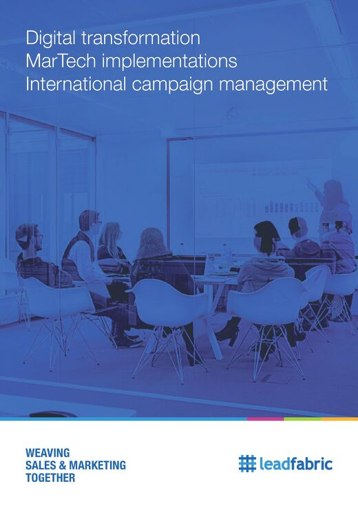 Brochure: Digital transformation, MarTech implementations and International Campaign management