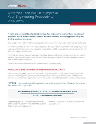 6 Metrics That Will Help Improve Engineering Productivity