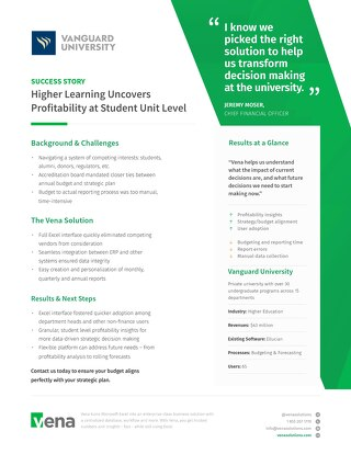 Vena Case Study: Vanguard University