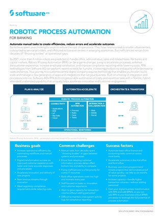 Robotic Process Automation for Banking