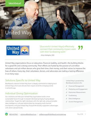 United Way + Blackbaud Partnership