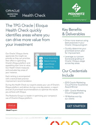 Oracle Marketing Cloud Health Check