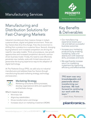Manufacturing Marketing Services