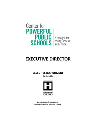 ACSA Partner The Center for Powerful Public Schools seeks Executive Director