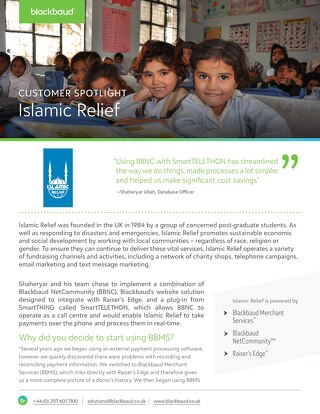 Islamic Relief | Customer Spotlight