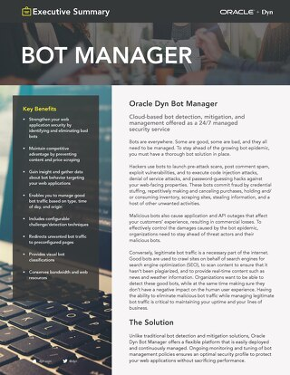 Bot Manager Executive Summary