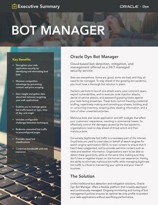 Bot Manager Executive Summary