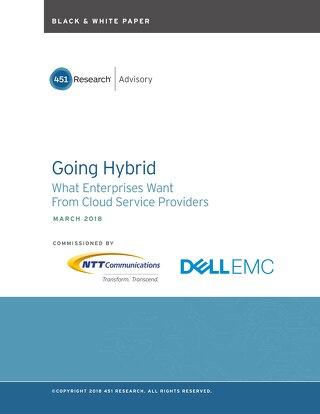 Going Hybrid Cloud Black and White paper by 451 Research