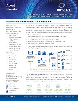 About Inovalon Fact Sheet