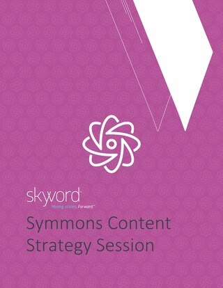 Symmons Content Strategy