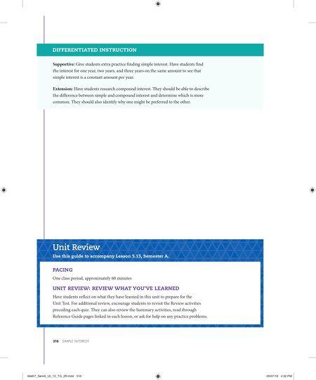 Brochures Florida Math 7 Teachers Guide Vol A