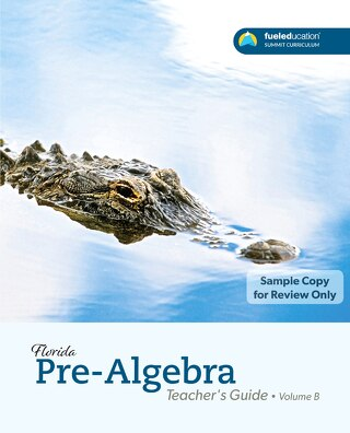 FLORIDA Pre-Algebra  Teacher's Guide Vol. B