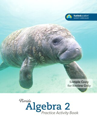 FLORIDA Algebra 2 Practice Activity Book P1