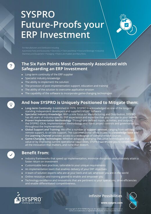 SYSPRO Safeguarding your ERP Investment - Infographic