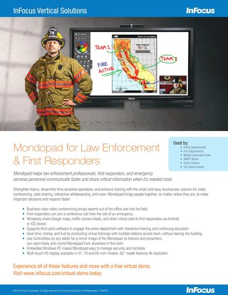 InFocus - Mondopad for Law Enforcement & First Responders