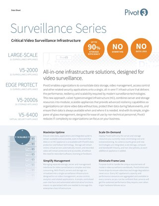 [Data Sheet] Pivot3 Surveillance Series (Skylake)