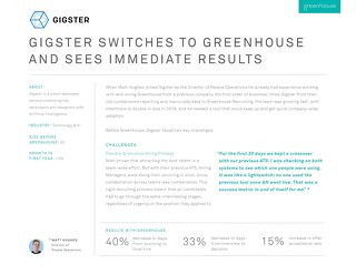 Gigster Switches to Greenhouse and Sees Immediate Results