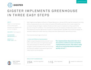 Gigster Implements Greenhouse in Three Easy Steps