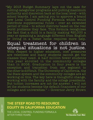 Steep Road to Resource Equity in California Education