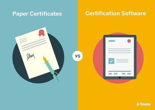 Paper Certificates vs Certification Software