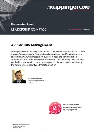Leadership Compass - API Security Management