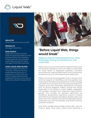 Liquid Web Partner Case Study - Saving Small Businesses Together with Digiboost
