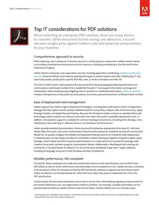 Top IT Considerations for PDF Solutions