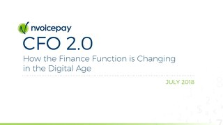 CFO 2.0: How the Finance Function is Changing