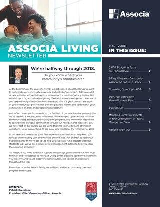 Q3 2018 Associa Newsletter