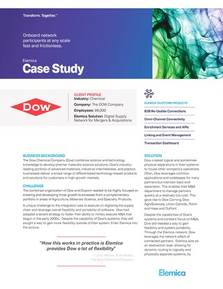 Elemica Case Study: The Dow Chemical Company