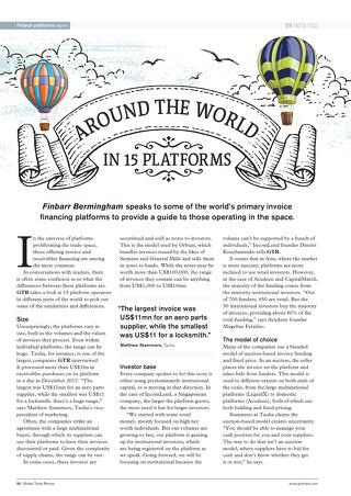GTR Fintech Platforms Report Q3 2018