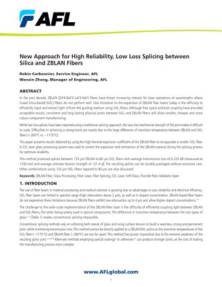 New Approach for High Reliability, Low Loss Splicing between Silica and ZBLAN Fibers