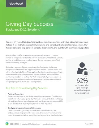 6 Tips for Giving Day Success