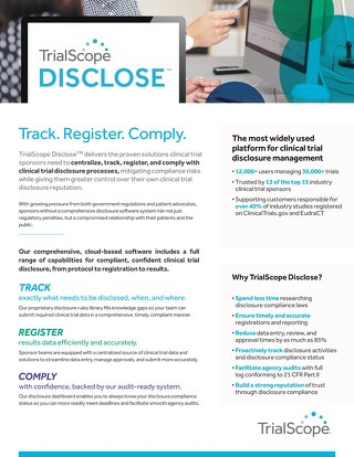 TrialScope Disclose Brochure