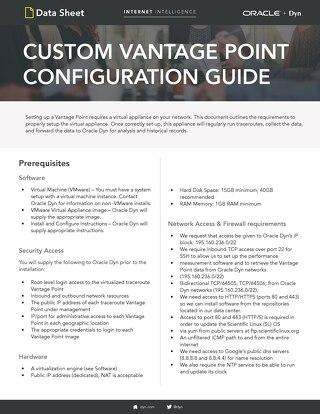 Custom Vantage Point Configuration Guide