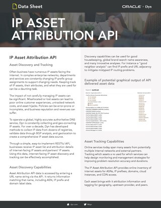 Attribution API Data Sheet