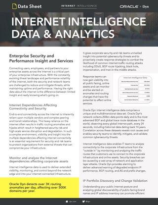 Internet Intelligence Data Shee