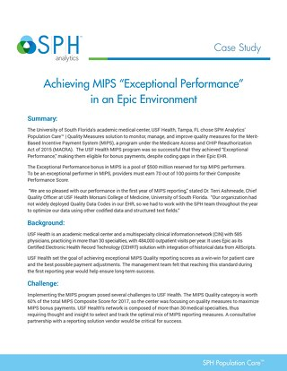 Case Study - Achieving MIPS Exceptional Performance in an Epic Environment