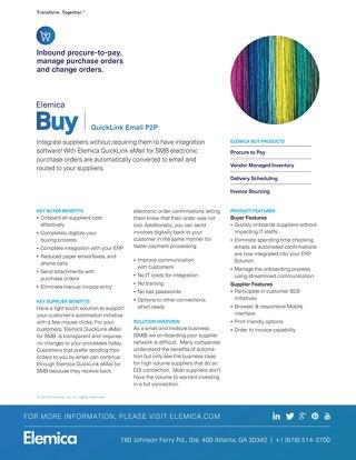 Elemica Buy: QuickLink Email P2P
