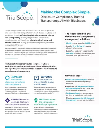 TrialScope Corporate Brochure