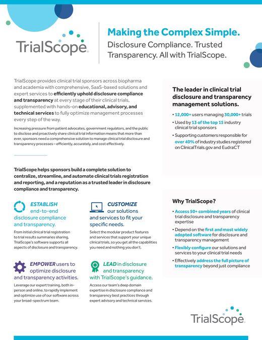TrialScope Corporate Brochure