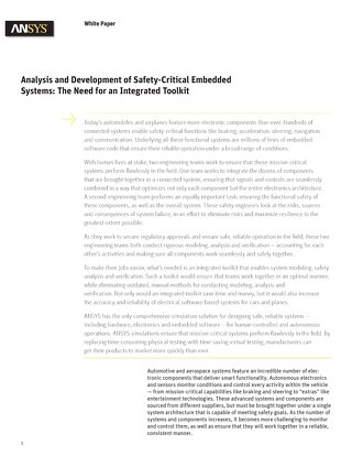 Analysis and Development of Safety Critical Embedded Systems: The Need for an Integrated Toolkit