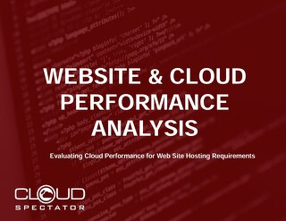 Cloud Spectator Performance Report