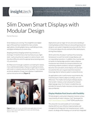 Slim Down Smart Displays with Modular Design