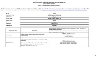 IM7 Standard Alignments – Florida Summit Math