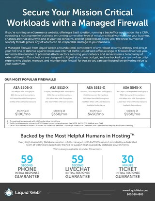 Secure Your Mission Critical Workloads with a Managed Firewall