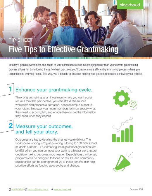 Five Tips for Effective Grantmaking